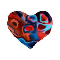 Abstract Fractal Standard 16  Premium Heart Shape Cushions by Simbadda