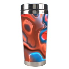 Abstract Fractal Stainless Steel Travel Tumblers by Simbadda