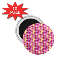 Pink Yelllow Line Light Purple Vertical 1 75  Magnets (10 Pack)  by Alisyart