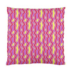 Pink Yelllow Line Light Purple Vertical Standard Cushion Case (two Sides) by Alisyart