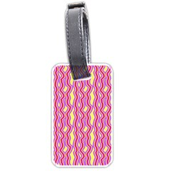 Pink Yelllow Line Light Purple Vertical Luggage Tags (two Sides) by Alisyart