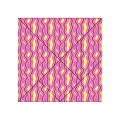 Pink Yelllow Line Light Purple Vertical Acrylic Tangram Puzzle (4  X 4 ) by Alisyart