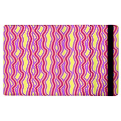 Pink Yelllow Line Light Purple Vertical Apple Ipad 3/4 Flip Case by Alisyart