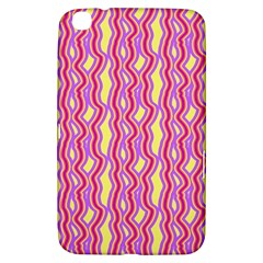 Pink Yelllow Line Light Purple Vertical Samsung Galaxy Tab 3 (8 ) T3100 Hardshell Case  by Alisyart