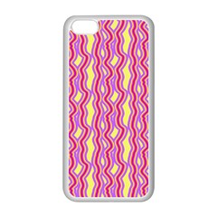 Pink Yelllow Line Light Purple Vertical Apple Iphone 5c Seamless Case (white) by Alisyart