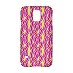 Pink Yelllow Line Light Purple Vertical Samsung Galaxy S5 Hardshell Case  by Alisyart