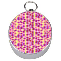 Pink Yelllow Line Light Purple Vertical Silver Compasses by Alisyart