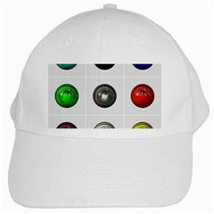 9 Power Buttons White Cap by Simbadda