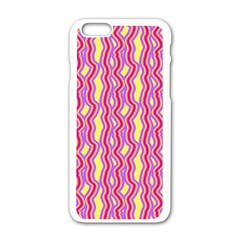 Pink Yelllow Line Light Purple Vertical Apple Iphone 6/6s White Enamel Case by Alisyart