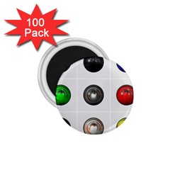 9 Power Buttons 1 75  Magnets (100 Pack)  by Simbadda