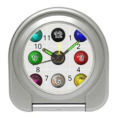 9 Power Buttons Travel Alarm Clocks by Simbadda