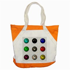 9 Power Buttons Accent Tote Bag by Simbadda