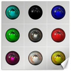 9 Power Buttons Canvas 20  X 20   by Simbadda