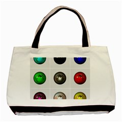 9 Power Buttons Basic Tote Bag (two Sides) by Simbadda
