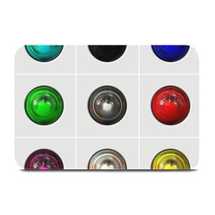 9 Power Buttons Plate Mats by Simbadda