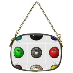9 Power Buttons Chain Purses (one Side)  by Simbadda