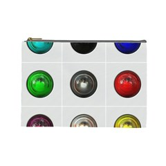 9 Power Buttons Cosmetic Bag (large)  by Simbadda