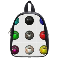 9 Power Buttons School Bags (small)  by Simbadda