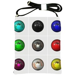 9 Power Buttons Shoulder Sling Bags by Simbadda
