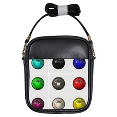 9 Power Buttons Girls Sling Bags by Simbadda