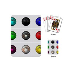 9 Power Buttons Playing Cards (mini)  by Simbadda