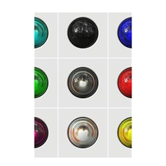 9 Power Buttons Shower Curtain 48  X 72  (small)  by Simbadda