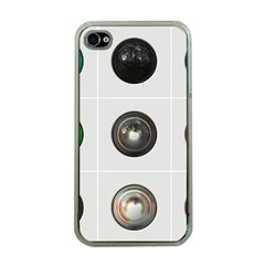 9 Power Buttons Apple Iphone 4 Case (clear) by Simbadda