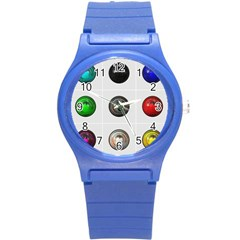 9 Power Buttons Round Plastic Sport Watch (s) by Simbadda