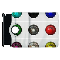 9 Power Buttons Apple Ipad 3/4 Flip 360 Case by Simbadda