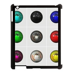 9 Power Buttons Apple Ipad 3/4 Case (black) by Simbadda