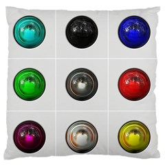 9 Power Buttons Standard Flano Cushion Case (one Side) by Simbadda
