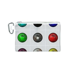 9 Power Buttons Canvas Cosmetic Bag (s) by Simbadda