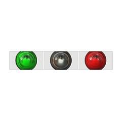 9 Power Buttons Flano Scarf (mini) by Simbadda
