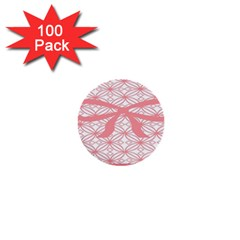 Pink Plaid Circle 1  Mini Buttons (100 Pack)  by Alisyart