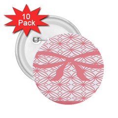 Pink Plaid Circle 2 25  Buttons (10 Pack)  by Alisyart