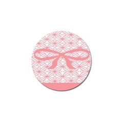 Pink Plaid Circle Golf Ball Marker (10 Pack) by Alisyart