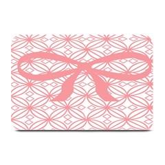 Pink Plaid Circle Plate Mats by Alisyart