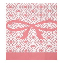 Pink Plaid Circle Shower Curtain 66  X 72  (large)  by Alisyart