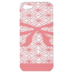 Pink Plaid Circle Apple Iphone 5 Hardshell Case by Alisyart