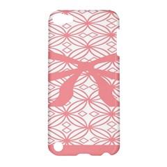 Pink Plaid Circle Apple Ipod Touch 5 Hardshell Case by Alisyart