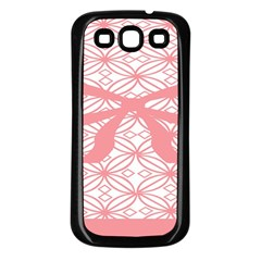 Pink Plaid Circle Samsung Galaxy S3 Back Case (black) by Alisyart