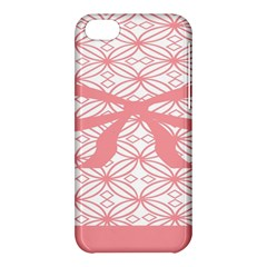 Pink Plaid Circle Apple Iphone 5c Hardshell Case