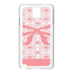 Pink Plaid Circle Samsung Galaxy Note 3 N9005 Case (white) by Alisyart