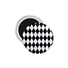 Plaid Triangle Line Wave Chevron Black White Red Beauty Argyle 1 75  Magnets by Alisyart