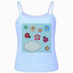 Buttons & Ladybugs Cute Baby Blue Spaghetti Tank