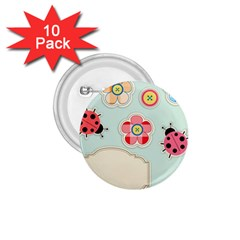 Buttons & Ladybugs Cute 1 75  Buttons (10 Pack) by Simbadda