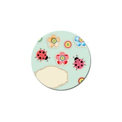 Buttons & Ladybugs Cute Golf Ball Marker by Simbadda