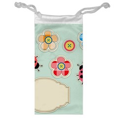 Buttons & Ladybugs Cute Jewelry Bag by Simbadda
