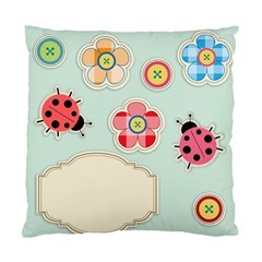 Buttons & Ladybugs Cute Standard Cushion Case (two Sides) by Simbadda