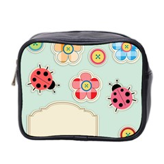 Buttons & Ladybugs Cute Mini Toiletries Bag 2 Side by Simbadda